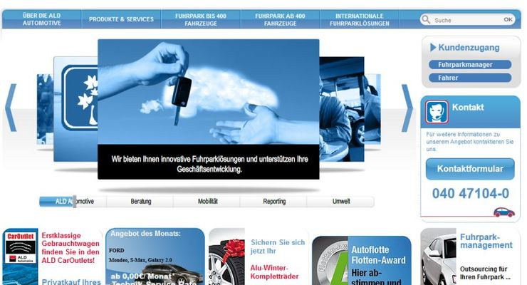 ALD Automotive, Homepage, Januar 2012