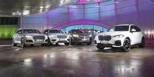 Audi Q7 2015, BMW X5 2018, Volvo XC90 2015, VW Touareg 2019