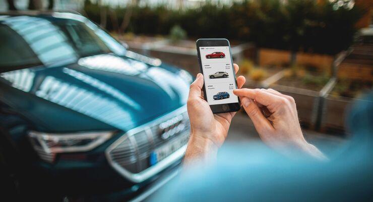 Audi on demand, Smarthone, buchen, flexible Mietwagen