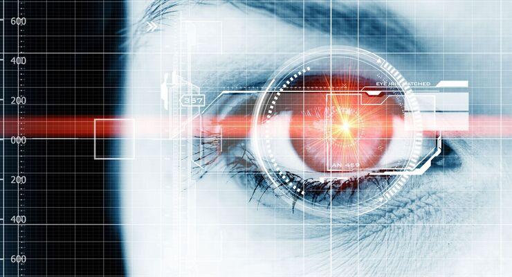 Augen-Display Datenschutz