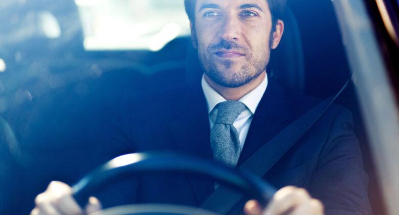 Autofahrer, fahrend,