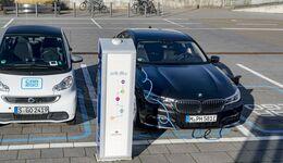BMW, 740e, iPerformance, 2017,Plug-in, Hybrid, Ladesäule, Car2go, laden
