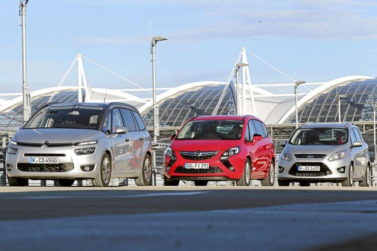 Citroen Grand C4 Picasso, Opel Zafira Tourer, Ford Grand C-Max