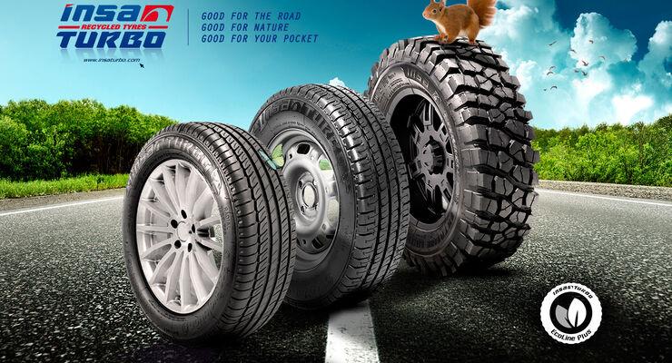 Das Reifensortiment der runderneuerten Reifen von Confortauto.