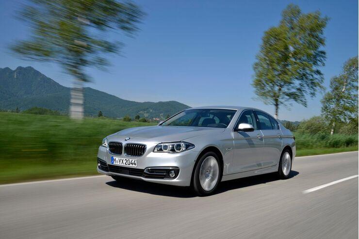 Der BMW 5er von vorne