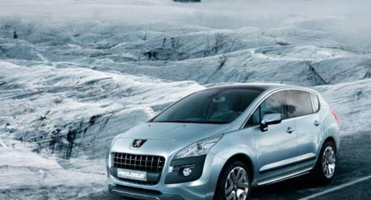 Der Peugeot Prologue stößt im Elektrobetrieb null Emission aus