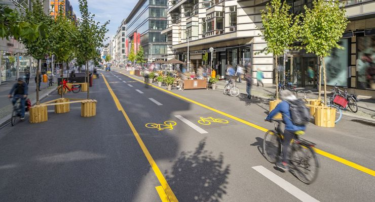 Fighting Climate Change with a City Pop-Up Bike Lane for a Carbon Neutral Future
