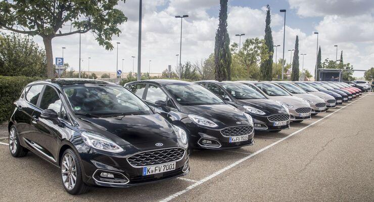 Ford, Fiesta, 2017, Flotte, Fuhrpark, Parkplatz,