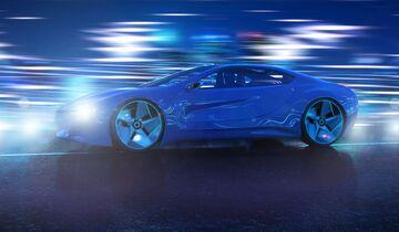 Hybrid, Sportwagen Nacht, Lichter