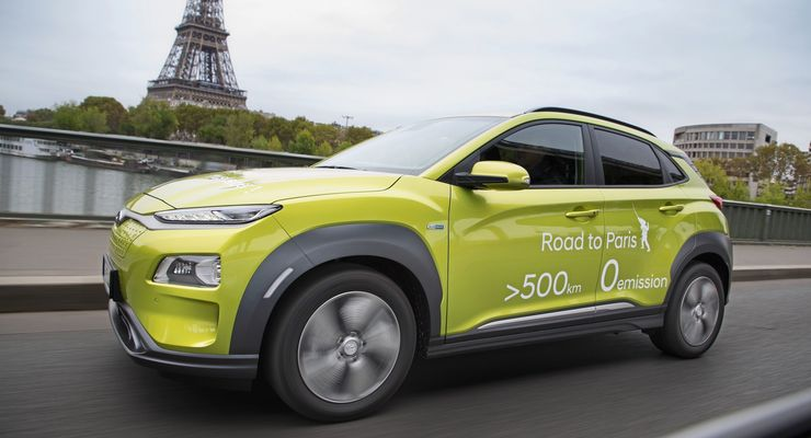 Hyundai Kona Elektro 2018 Road to Paris