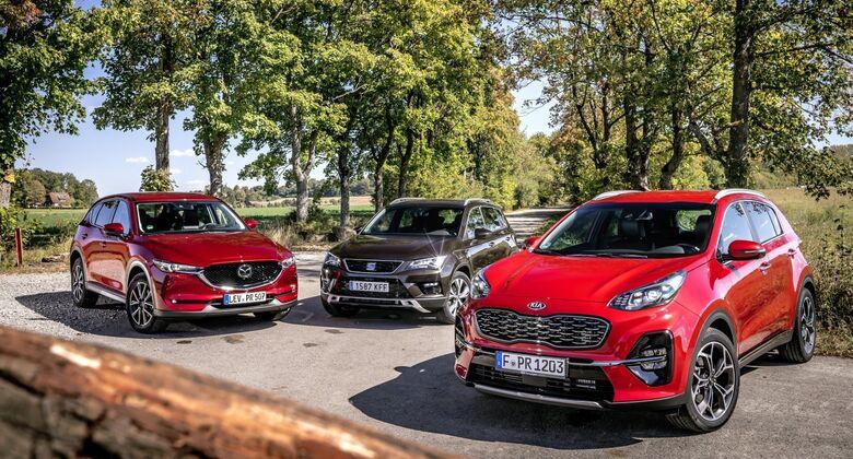 Kia Sportage 2018, Mazda CX-5 2018, Seat Ateca 2018