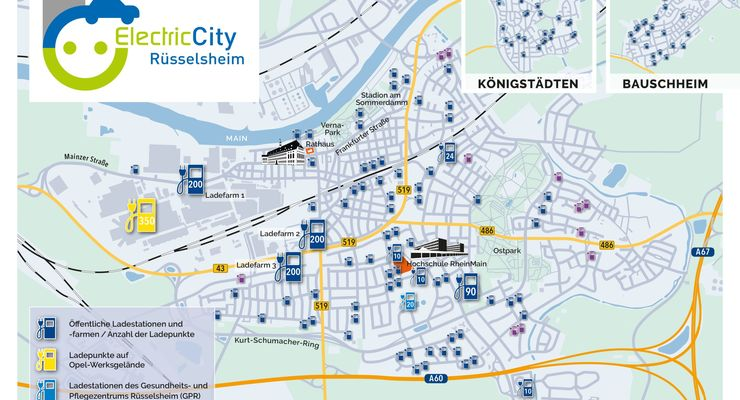 Ladestationen, Rüsselsheim, Electric City