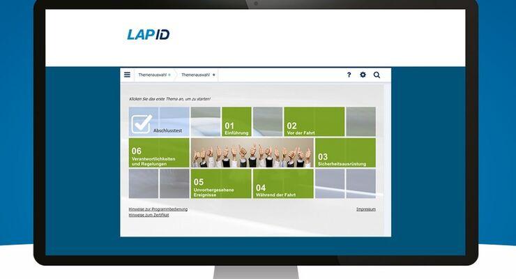 LapID Fahrerunterweisung UVV Online Internet Bildschirm