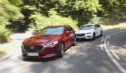 Mazda 6 Kombi 2018 und Opel Insignia Sports Tourer 2017