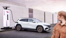 Mercedes EQA, Elektroauto, E-Auto, laden, Ladesäule, Schnellladesäule, Ionity