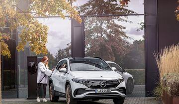 Mercedes EQA, Elektroauto, E-Auto, laden, Ladesäule
