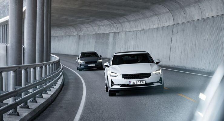 Polestar 2 2021, E-Auto, Elektroauto, Tunnel