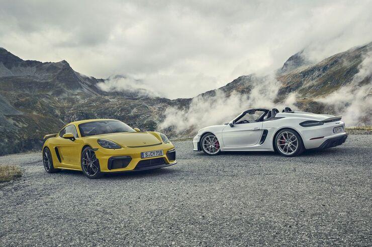 Porsche 718 GT4 und Boxster 2019