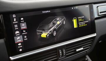 Porsche Cayenne E-Hybrid 2018 Hybridmodus Bildschirm