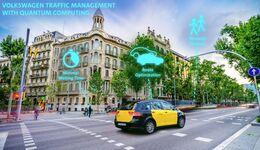 Quantencomputer Volkswagen VW Konzern Barcelona Verkehrsberechnung Verkehrsfluss Verkehrssteuerung Algorithmus