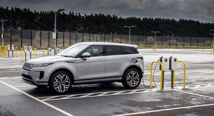 Range Rover Evoque 2021, laden, Ladestation