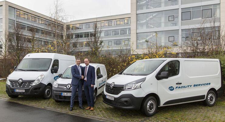 Renault, ISS, Flotten, Oliver Weinbeck, Director Supply Chain/Procurement ISS, Dirk Horstkötter, Leiter Key Account/Direktgeschäft Renault Deutschland