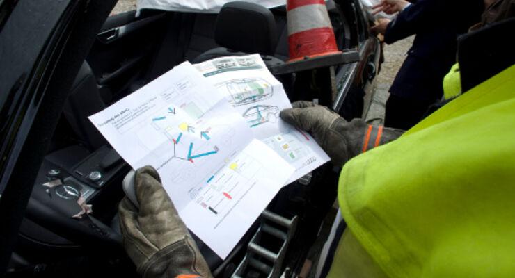 Rettungskarte in Elektro- und Hybridautos