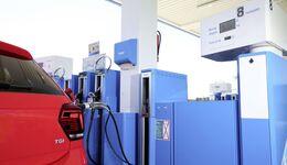 VW Polo, Erdgas, Tankstelle, CNG